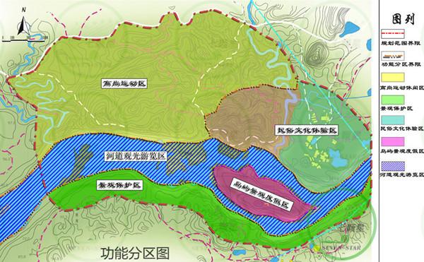 广西来宾市蓬莱洲旅游度假区总体规划
