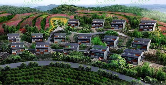 茶山瑶寨特色建筑设计 - 旅游规划 民族旅游规划 乡村