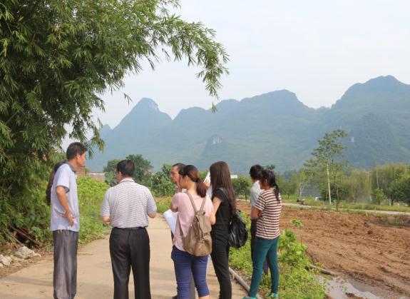 七颗星规划机构赴来宾市忻城县下六纳屯实地考察