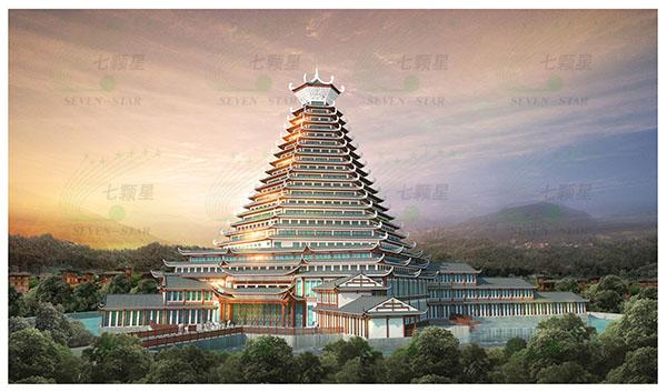 龙胜各族自治县平等少数民族(侗族)特色小镇建筑设计